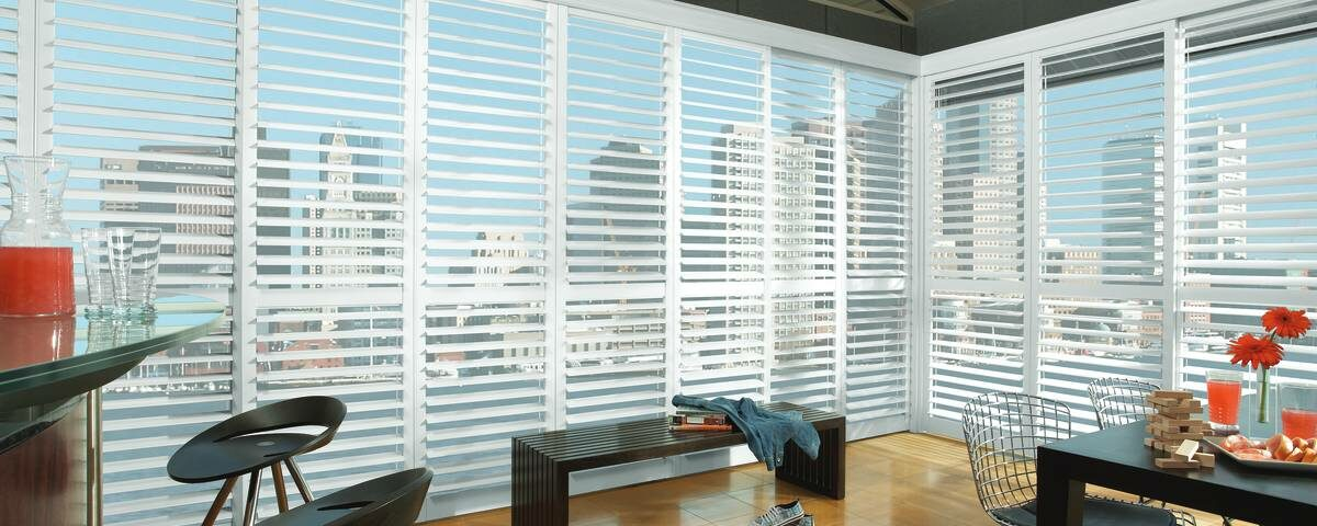 Hunter Douglas NewStyle® Hybrid Shutters near Tustin, California (CA) with quality materials, genuine hardwood, and more